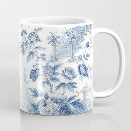 Powder Blue Chinoiserie Toile Coffee Mug