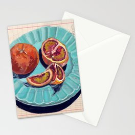Blood Oranges in Gouache Stationery Cards