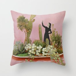 The Wonders of Cactus Island Throw Pillow