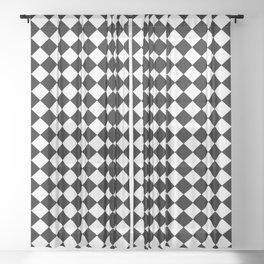 VERY SMALL BLACK AND WHITE HARLEQUIN DIAMOND PATTERN Sheer Curtain