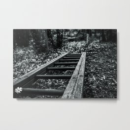 Wood Stains Metal Print