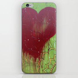 I Left My Heart Out in the Rain iPhone Skin