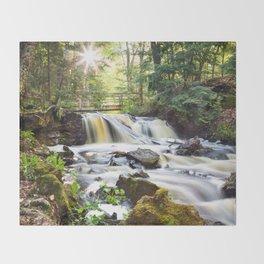 Upper Chapel Falls at Pictured Rocks National Lakeshore - Michigan Throw Blanket