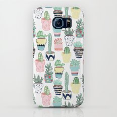 Cute Cacti in Pots Slim Case Galaxy S7