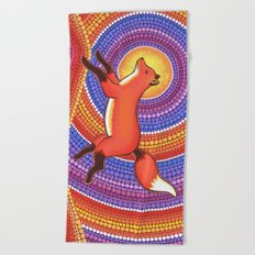 Fearless Friendly Fox Beach Towel