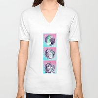 bucky V-neck T-shirts featuring Bucky I by manso