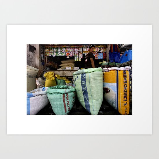 Color Market Art Print
