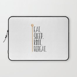 Eat Sleep Knit Repeat Laptop Sleeve