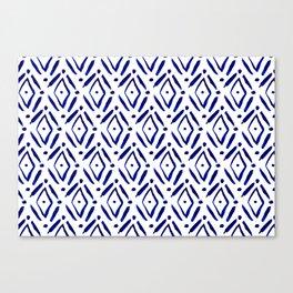 Shibori Diamond pattern Canvas Print