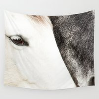 horses Wall Tapestries featuring Horses by MarianaLage
