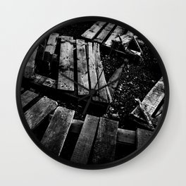 Crumbled Wall Clock