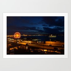 View from Pike's Place market Art Print
