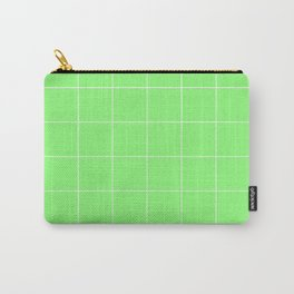 Graph Paper (White & Light Green Pattern) Carry-All Pouch