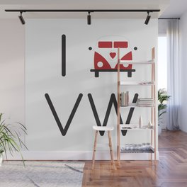 I heart Campervans Wall Mural