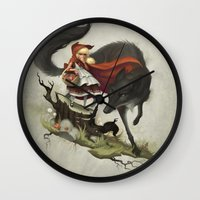 "evil Wall Clocks featuring ""Unto an evil counsellor, close heart and ear and eye..."" by Dave E. Phillips"