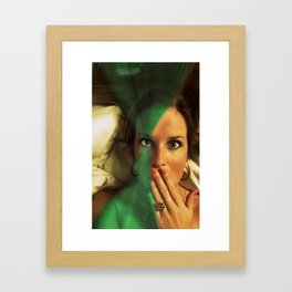 speak into my eye Framed Art Print