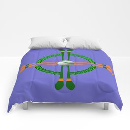Hurley and Ball Celtic Cross Design - Solid colour background Comforters
