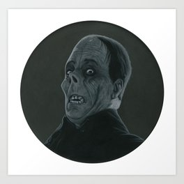 The Opera's Phantom on vinyl record print Art Print