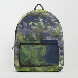 Fields of White and Purple Backpack