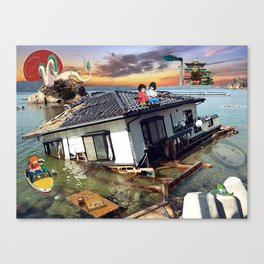 Beyond the Sea - Spirited Away / Ponyo Tsunami Series Canvas Print