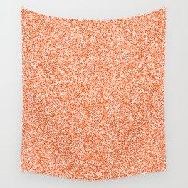 Spacey Melange - White and Dark Orange Wall Tapestry