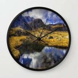 Stream Reflections Wall Clock