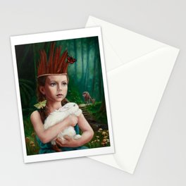 Feather Crown Stationery Cards