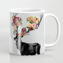 Spring Itself Deer Floral Coffee Mug