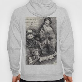 Gord Downie  Tribute Pen & Ink Drawing Hoody