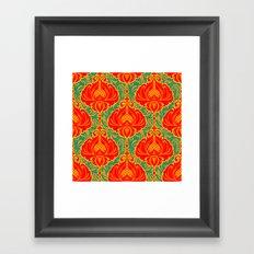 Bright vintage floral pattern Framed Art Print