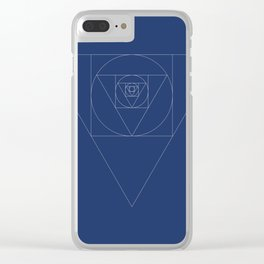 Shapeception (blue) Clear iPhone Case