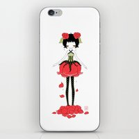 rose iPhone & iPod Skins featuring Rose by Freeminds