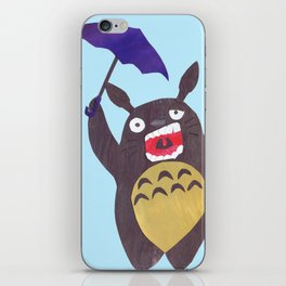 Totoro is tired Collage iPhone Skin