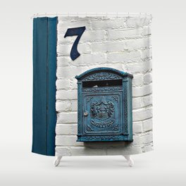 Letterbox at No. 7 Shower Curtain