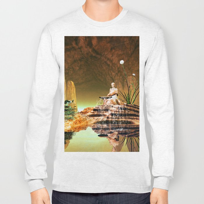 The mysterious underwater cave Long Sleeve T-shirt