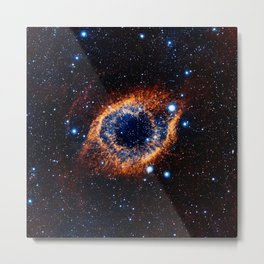 Helix Nebula (Infrared) Metal Print