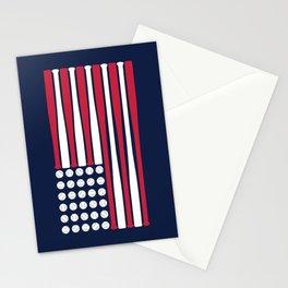 USA Baseball Flag Stationery Cards