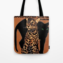 Vintage Munich Zoo Leopard 1912 Advertisement Tote Bag