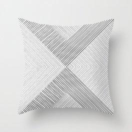 Stripe Geometric Arrow Throw Pillow