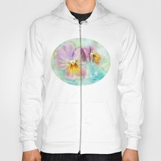 Watercolor Pansies Hoody
