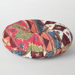 Haymana  Antique Ankara Turkish Kilim Fragment Print Floor Pillow