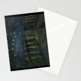 Starry Night Over the Rhone by Vincent van Gogh Stationery Cards