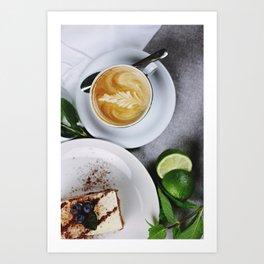 Delicious Morning Latte Art Print