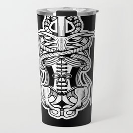 Sigil of the Lady Pirate (Black Design) Travel Mug
