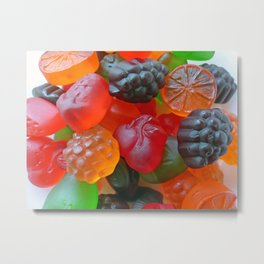 Gummy Fruit Metal Print