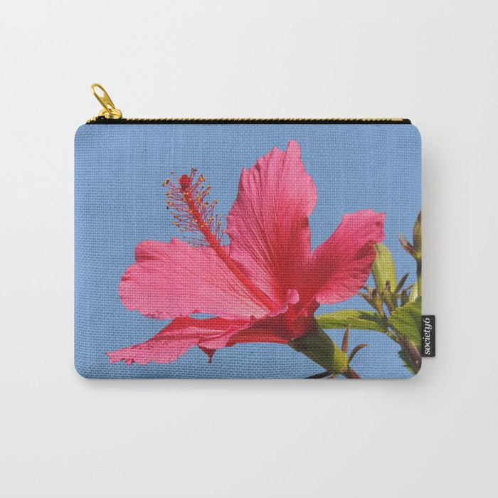 The Neighbor's Pink Hibiscus Carry-All Pouch
