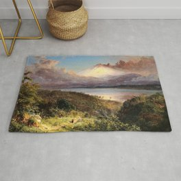 Frederic Edwin Church - View Of Cotopaxi - Digital Remastered Edition Rug