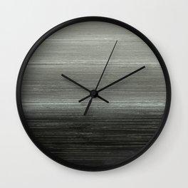 Algorithmic Linen Silver Steel Grey Wall Clock