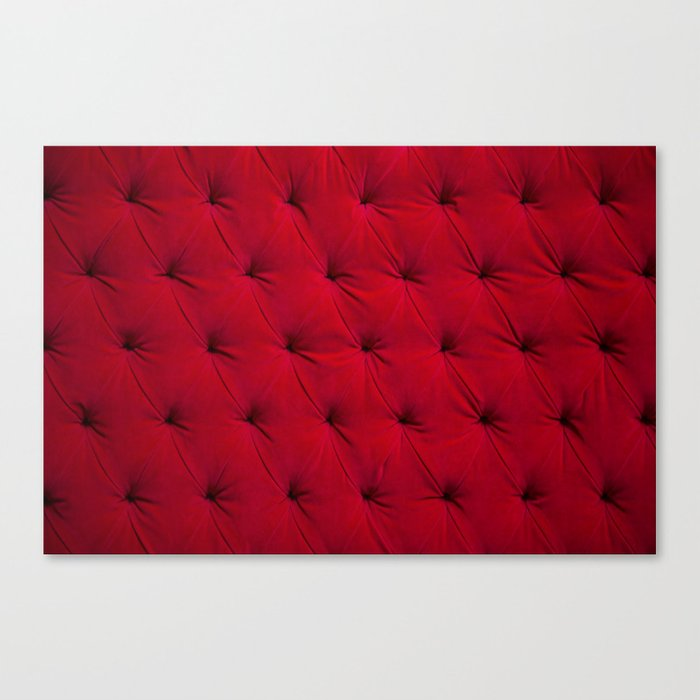 Padded red velvet texture Leinwanddruck