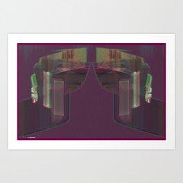 Frakblot Ribbon Art Print